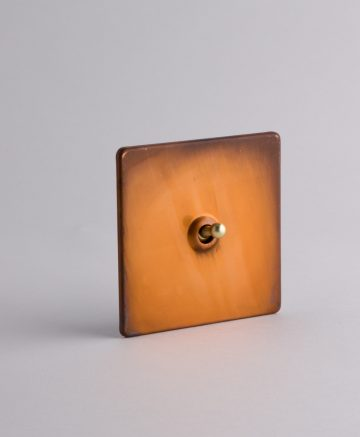 toggle light switch 1 toggle copper & gold