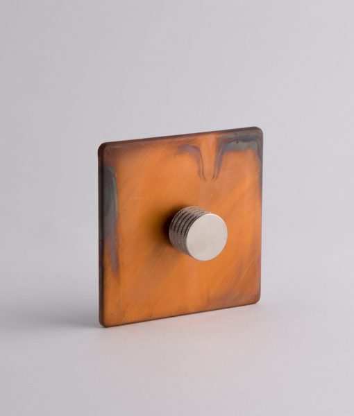 designer dimmer switch single copper & silver