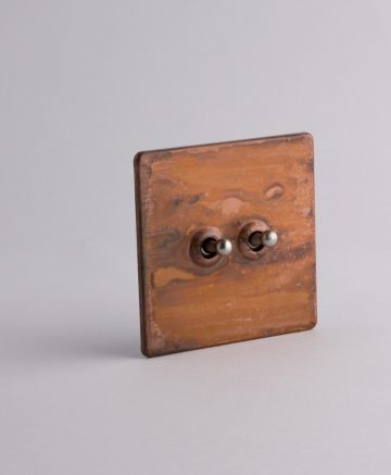 toggle light switch 2 toggle copper & silver