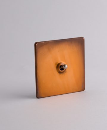 toggle light switch 1 toggle copper & silver