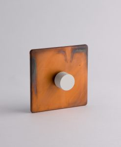 designer dimmer switch single copper & white