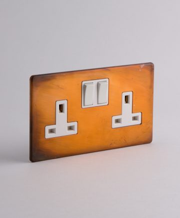copper double plug socket