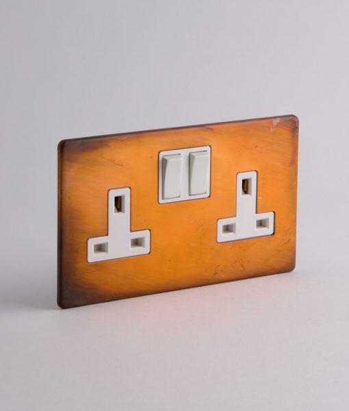 copper double plug socket