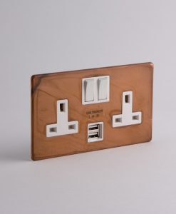 double plug socket usb