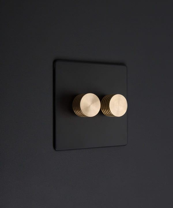 black and gold 2g standard double dimmer