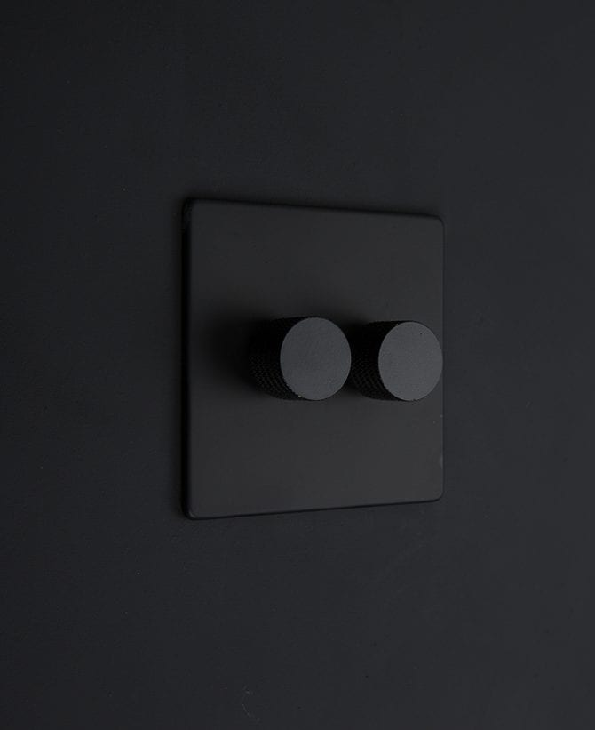 black & black double dimmer standard