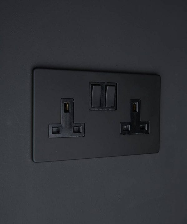 black double wall socket