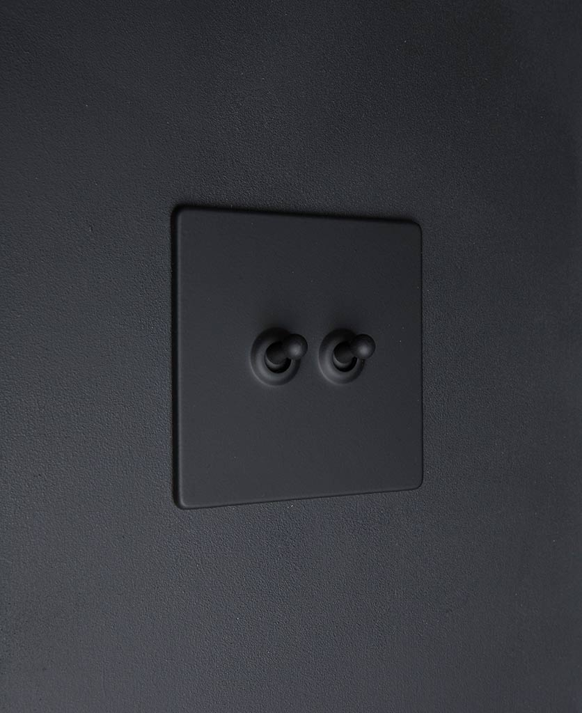 toggle light switch 2 toggle black
