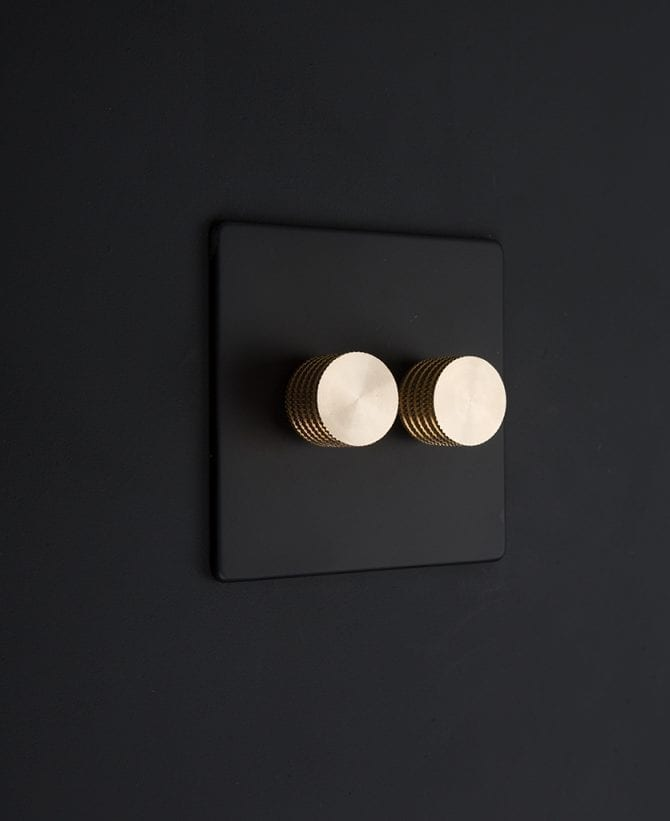 black & gold double dimmer standard