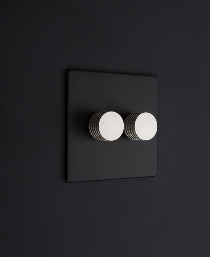 black & silver double dimmer standard