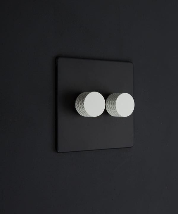 black & white double dimmer standard