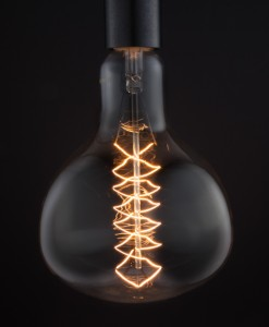 Giant Vintage Light Bulb Beaker Spiral Filament