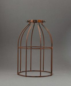 Cage Light Shade Domed Tarnished Copper
