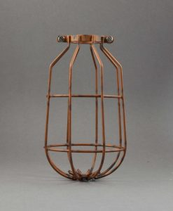 Tarnished copper drop cage light shade