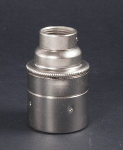 Conduit Metal Pipe Bulb Holder Silver E27