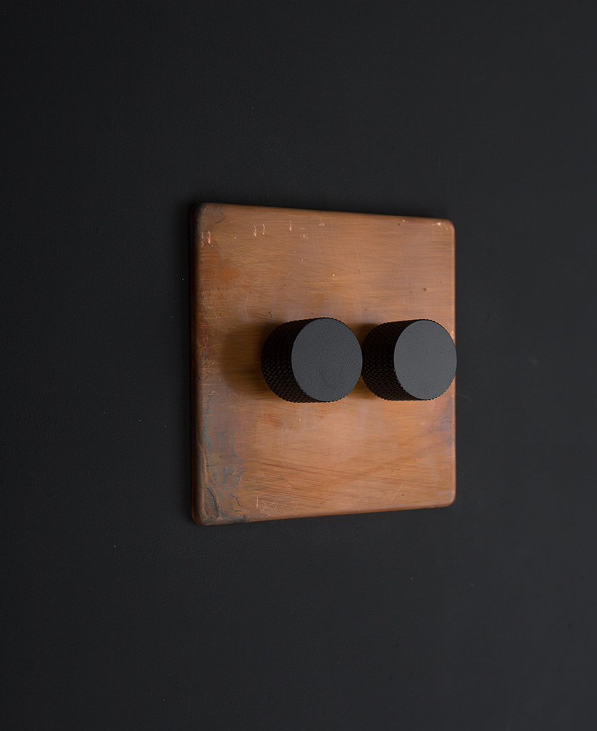 copper & black double dimmer standard