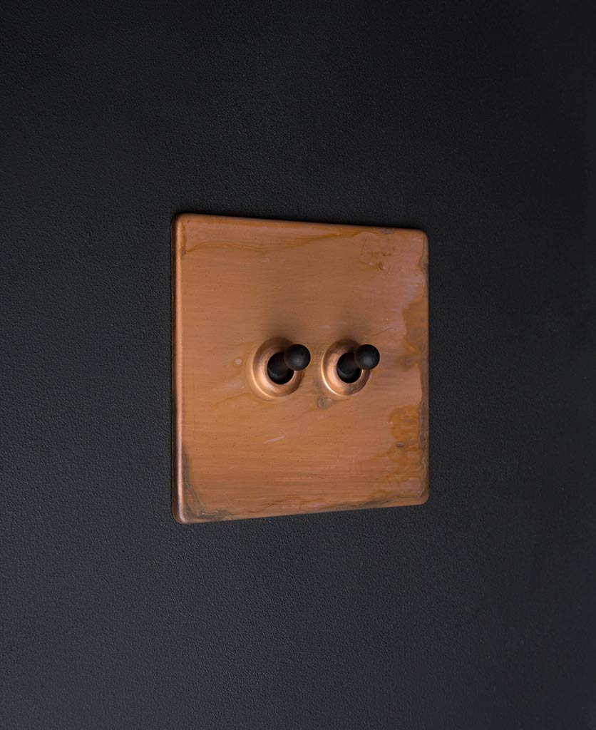 copper & black double toggle switch