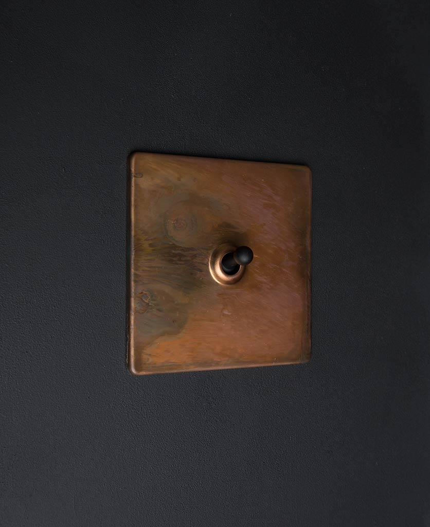 copper & black single toggle switch