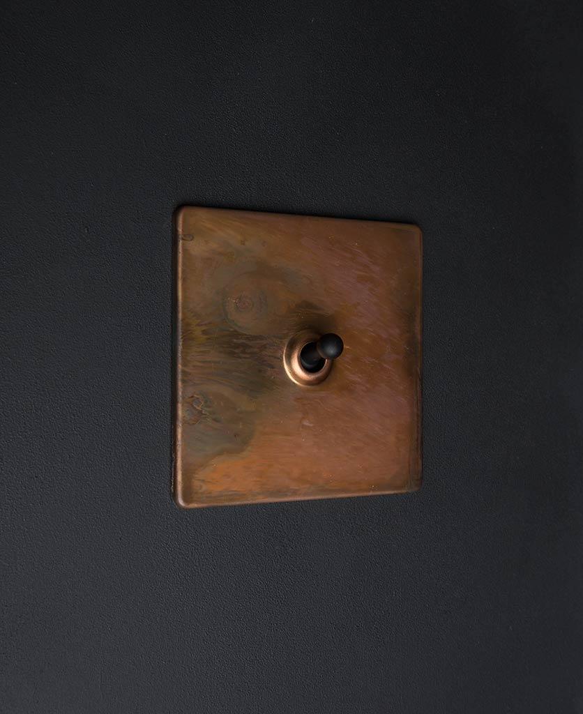 copper & black single toggle switch