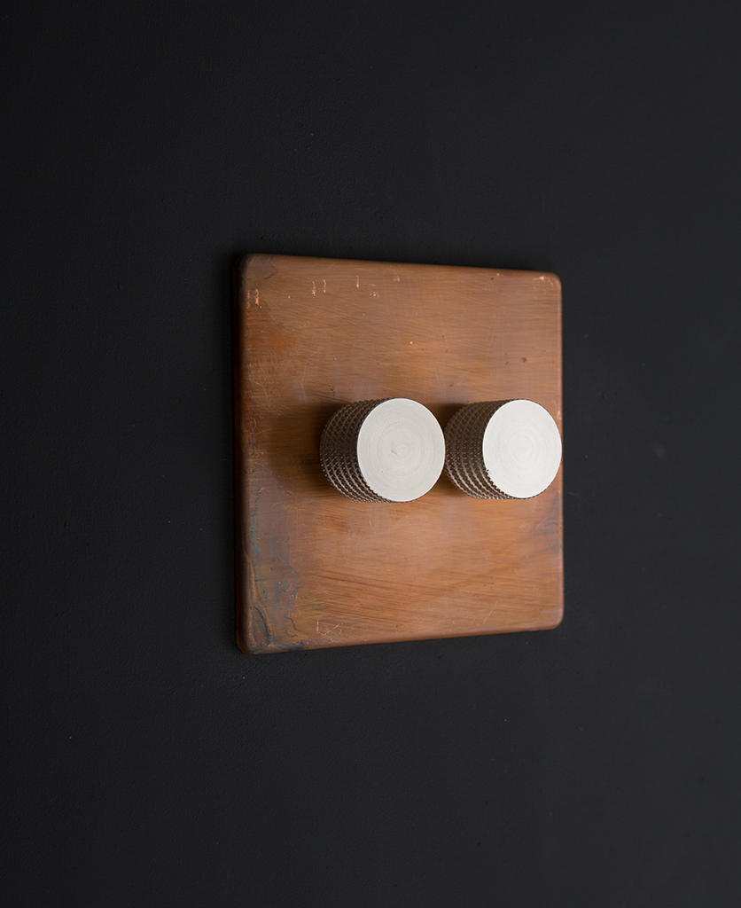 copper & silver double dimmer standard