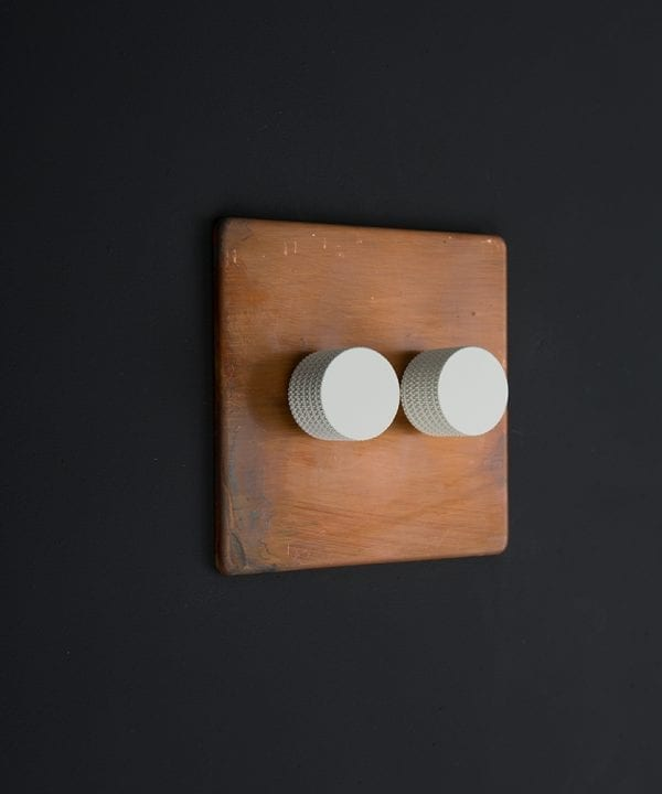 copper & white double dimmer standard