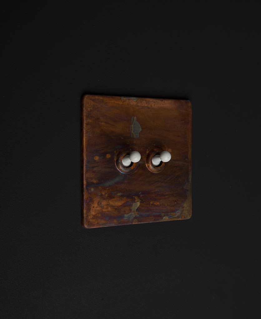 copper & white double toggle
