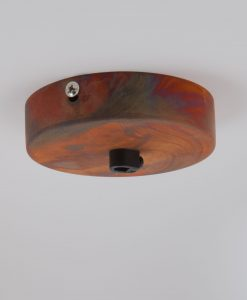 tarnished copper single entry ceiling rose