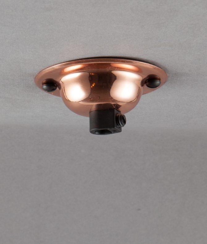 polished copper domed ceiling rose
