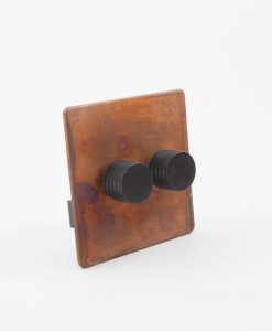 Designer Dimmer Switch Double Copper & Black