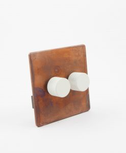 Designer Dimmer Switch Double Copper & White Light Switch