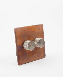 Designer Dimmer Switch Double Copper & Silver Light Switch