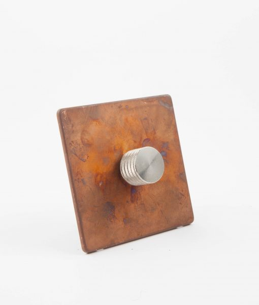 Designer Dimmer Switch Single Copper & Silver Dimmer Switch