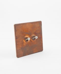 Toggle Light Switch 2 Toggle Copper & Silver Designer Switch