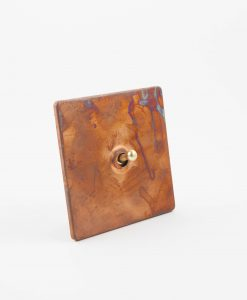 Toggle Light Switch 1 Toggle Copper & Gold Designer Switch