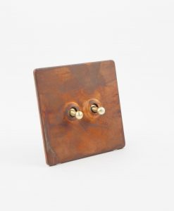 Toggle Light Switch 2 Toggle Copper & Gold