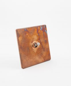 Toggle Light Switch 1 Toggle Copper & Silver Designer Switch