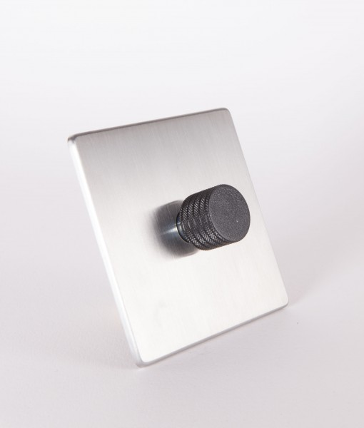 designer dimmer switch single silver black dimmer switch. Black Bedroom Furniture Sets. Home Design Ideas