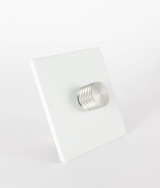 designer dimmer switch single white silver light switch. Black Bedroom Furniture Sets. Home Design Ideas