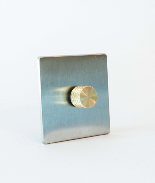 designer dimmer switch single silver gold dimmer switch. Black Bedroom Furniture Sets. Home Design Ideas