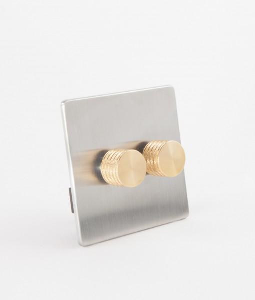 designer dimmer switch treble silver gold dimmer switch. Black Bedroom Furniture Sets. Home Design Ideas