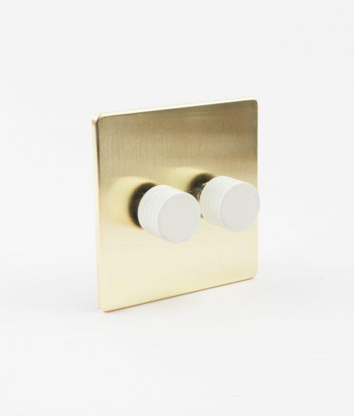 designer dimmer switch double gold white light switch. Black Bedroom Furniture Sets. Home Design Ideas