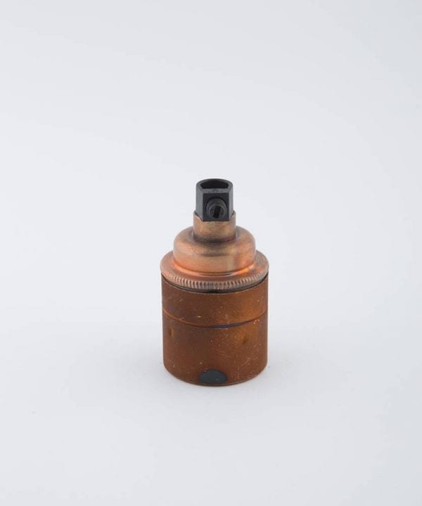 tarnished copper e27 light bulb holder
