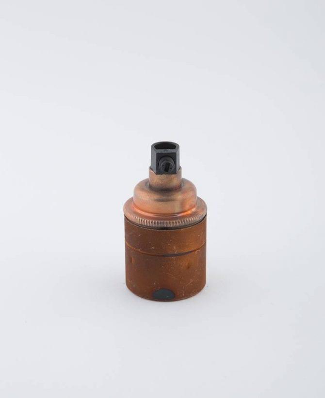 tarnished copper e27 light bulb holder