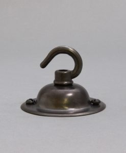 farrier bronze domed rose with hook