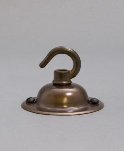 Brewer's Brass Domed Rose with hook