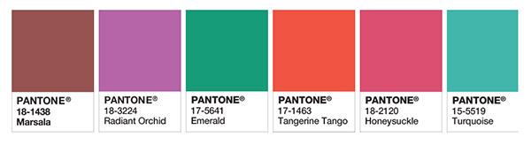 past pantone colours