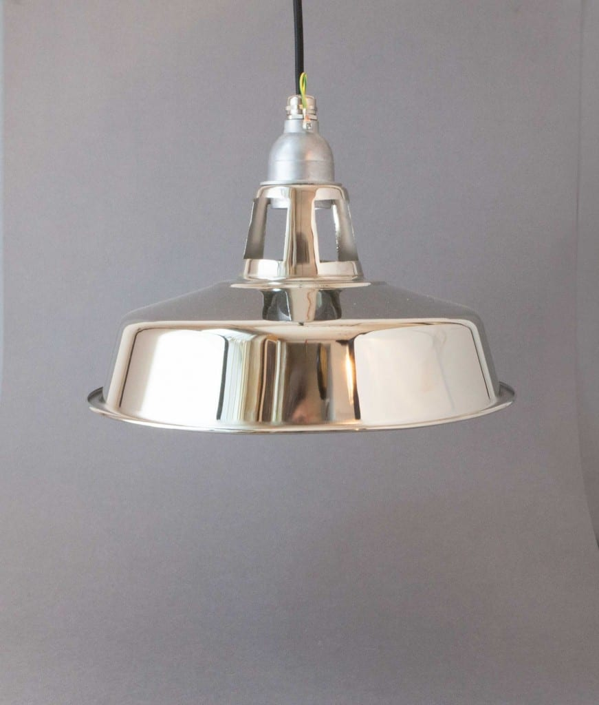 silver factory pendant light