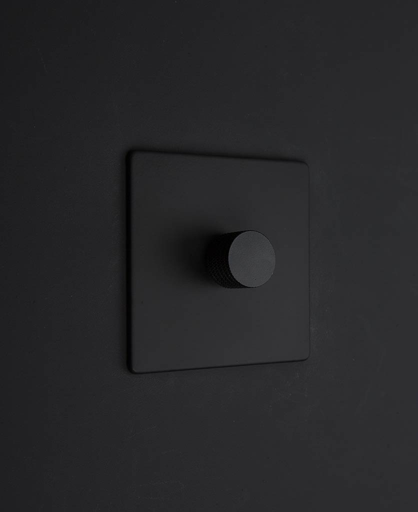 black & black single dimmer