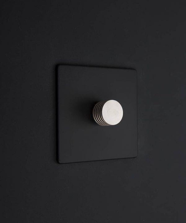 black & silver single dimmer