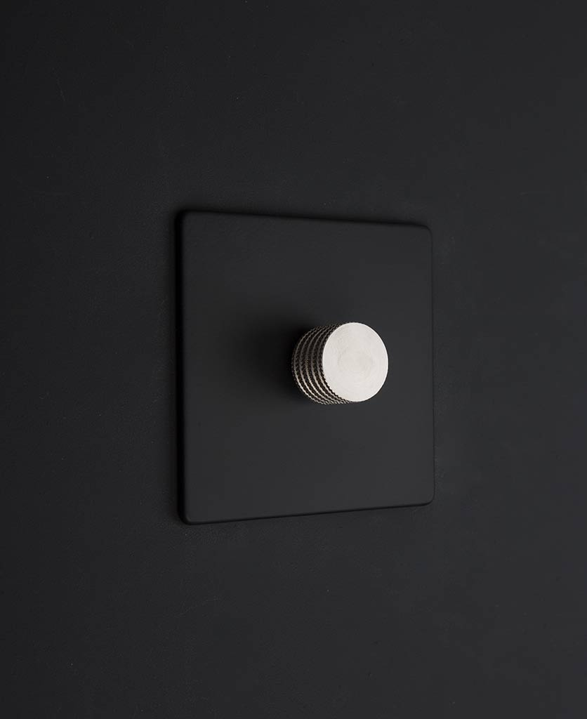Designer Dimmer Switch Single Black Dimmer Switch